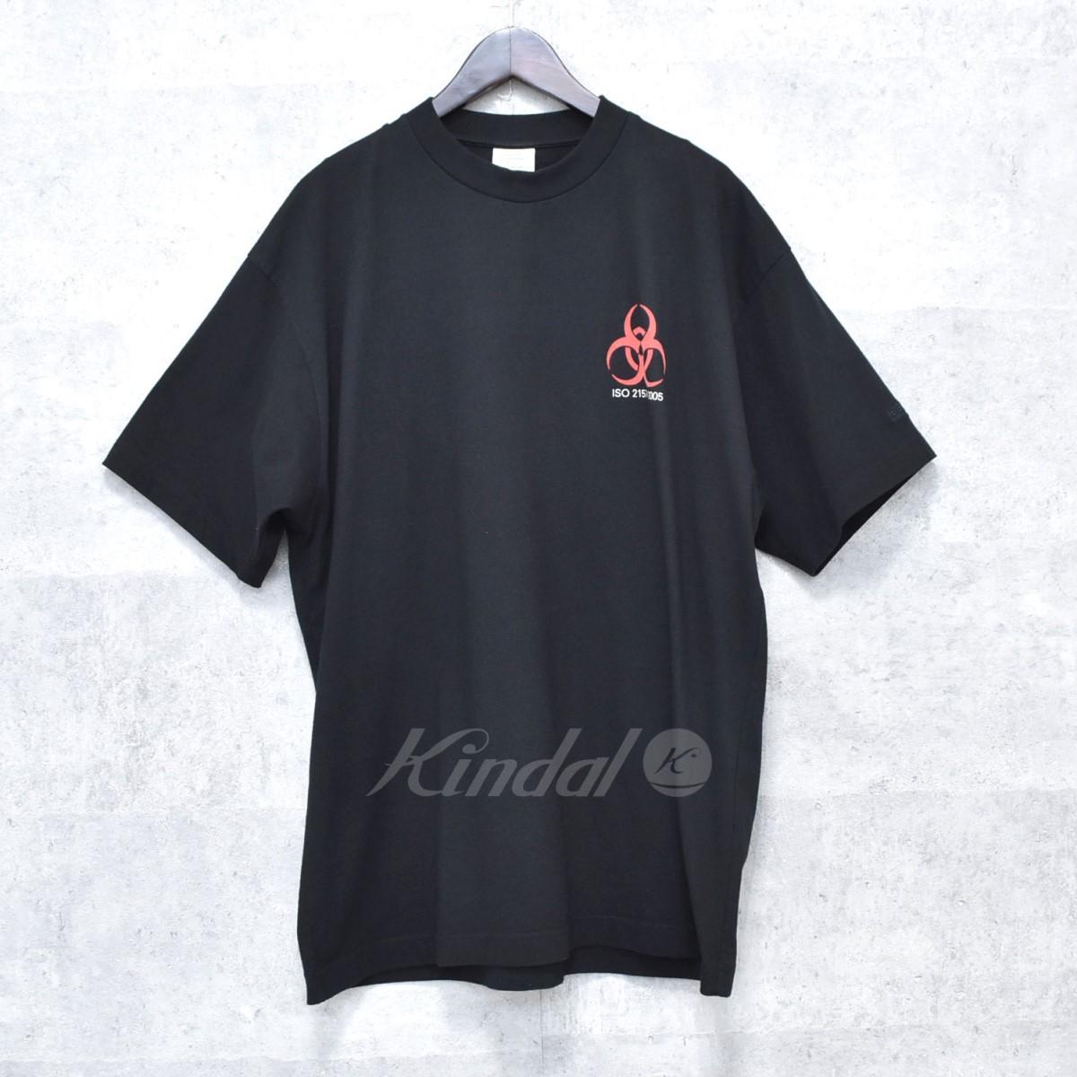 【中古】VETEMENTS VOLUNTEER T-SHIRT ボランティアTシャツ ブラック サイズ:XS 【送料無料】 【041118】(ヴェトモン)
