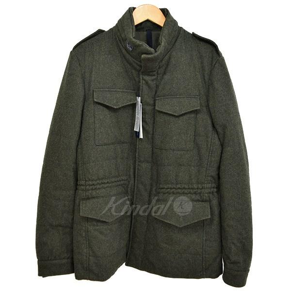 【中古】AQUARAMA ウール M65 ジャケット オリーブ サイズ:46 【041118】(アクアラマ)