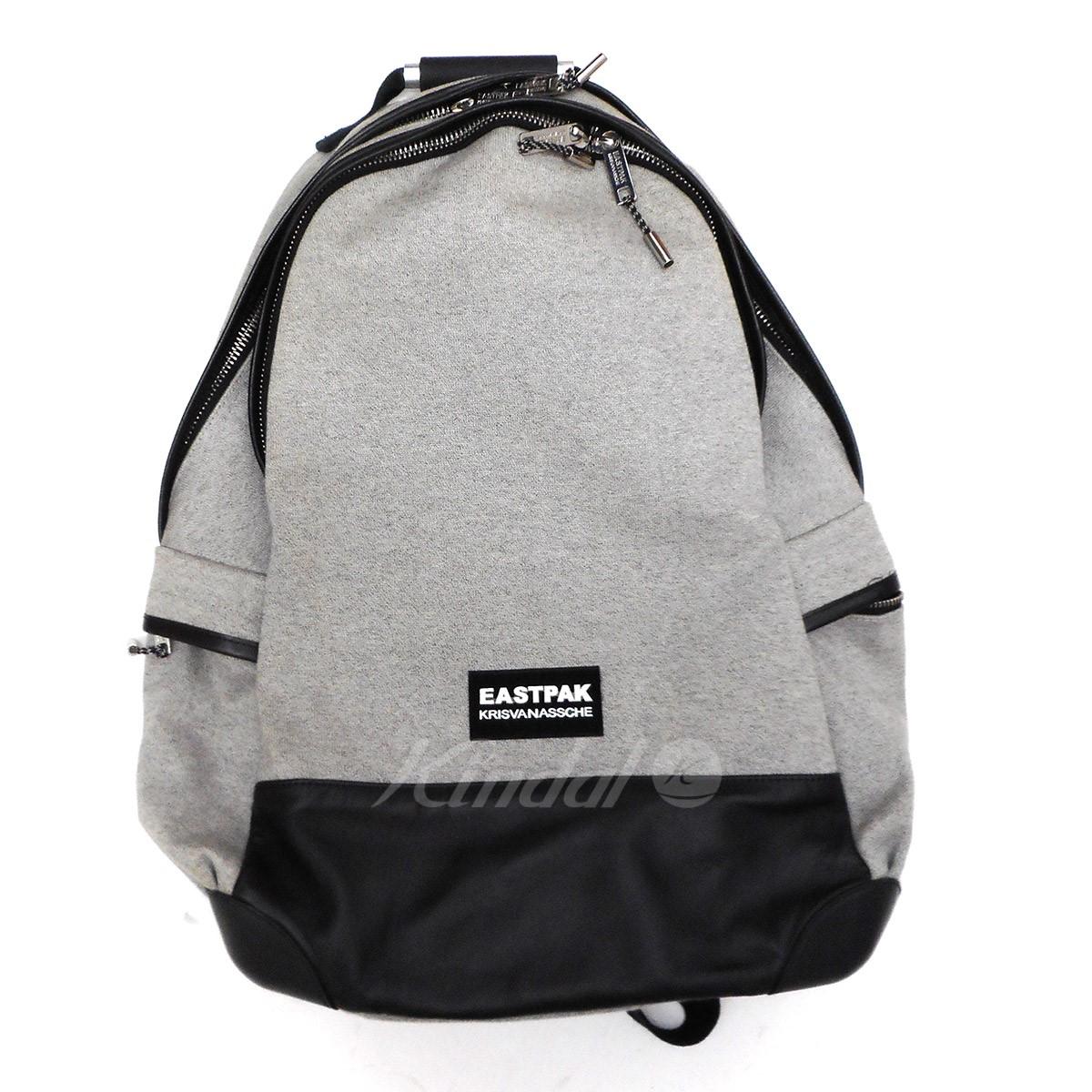 【中古】KRIS VAN ASSCHE×EASTPAK Backpack レザー切替バックパック 【送料無料】 【003737】 【KIND1550】