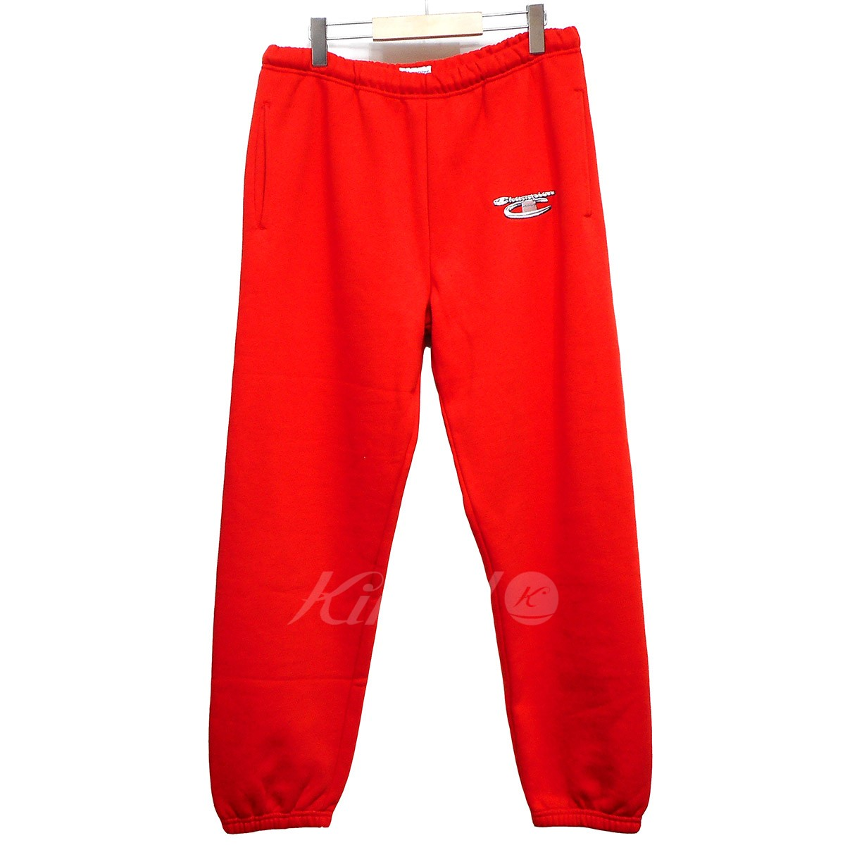 【中古】SUPREME×Champion 18AW 3D Metallic Sweatpant Brick Red 【送料無料】 【004147】 【KIND1641】