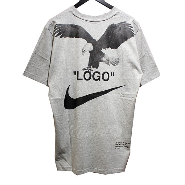 4709f6647 NIKE X OFF WHITE 2018AW NRG A6 TEE both sides print T-shirt gray size ...
