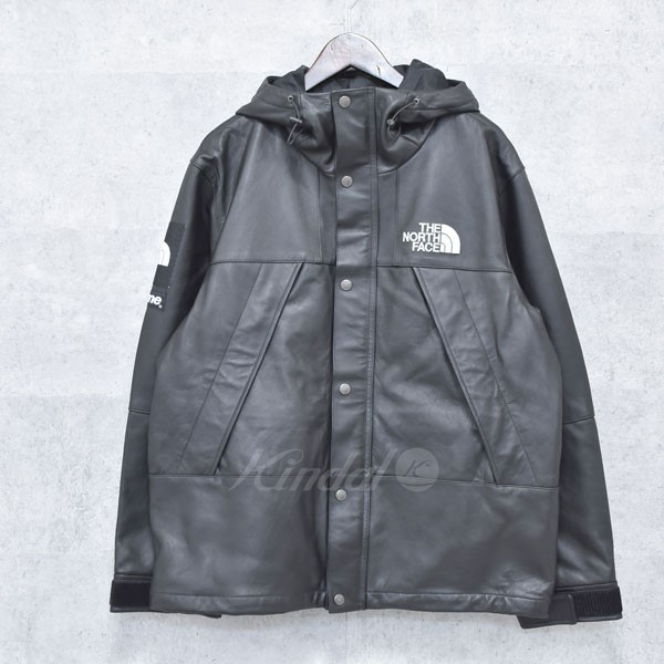 【中古】SUPREME×THE NORTH FACE 18AW Leather Mountain Parka レザーマウンテンパーカー 【送料無料】 【264672】 【KIND1550】