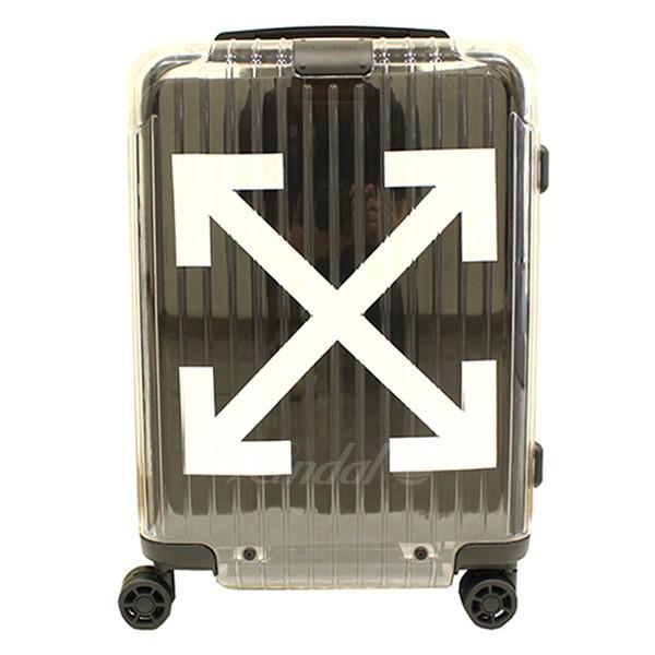 【中古】RIMOWA × OFF-WHITE 18AW See Through Black エッセンシャルモデル スーツケース キャリーケース ブラック×クリア サイズ:-(36L) 【051118】(リモワ オフホワイト)