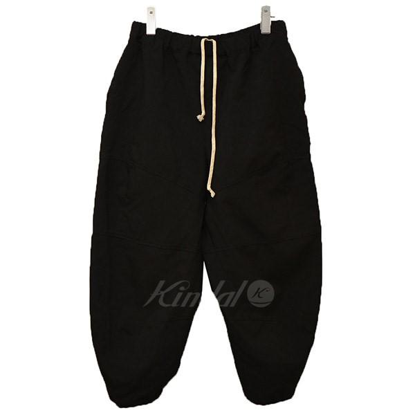 【中古】BLACK COMME des GARCONS ポリ縮 テーパードパンツ パンツ 【送料無料】 【005244】 【KIND1641】