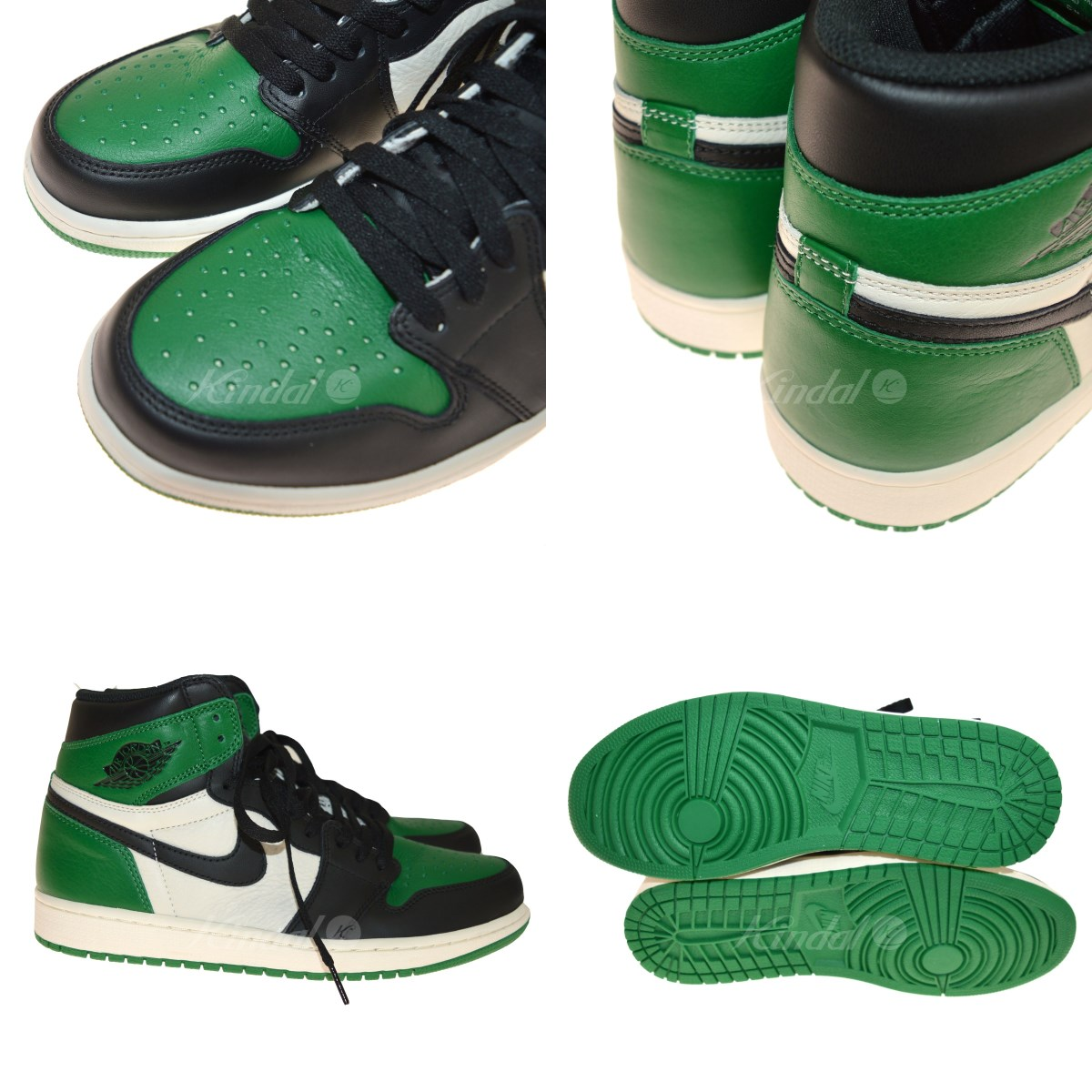 4c22d7c19570 kindal  NIKE AIR JORDAN 1 RETRO HIGH OG PINEGREEN green X white size ...