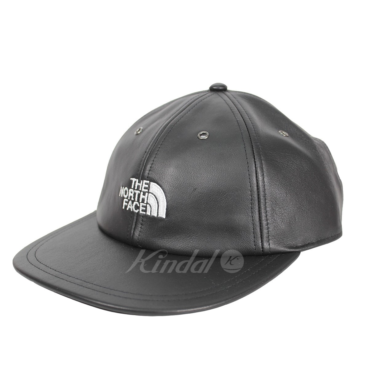 【中古】Supreme × THE NORTH FACE 18AW Leather 6-Panel Hat レザー6パネルキャップ 【送料無料】 【005929】 【KIND1550】