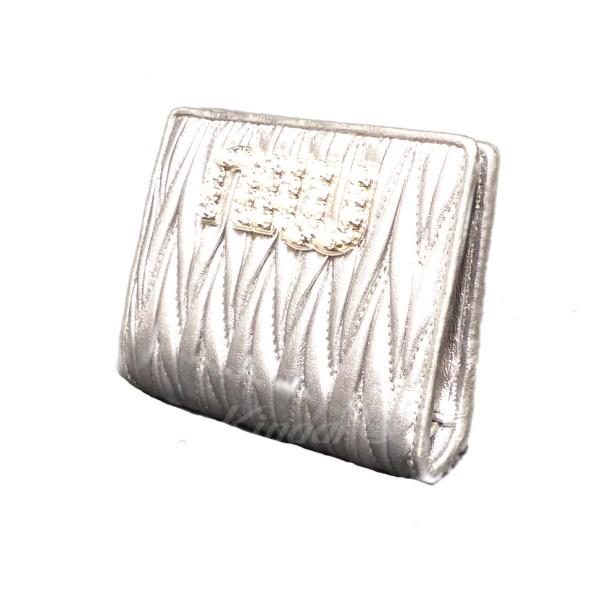 【中古】MIUMIU 二つ折り財布 【送料無料】 【037384】 【KIND1550】