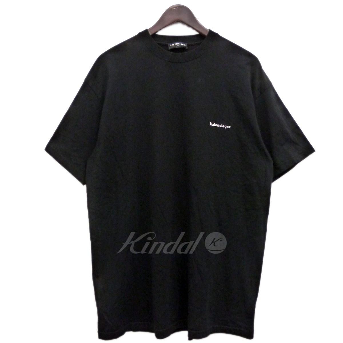 【中古】BALENCIAGA 17AW胸ロゴプリントTシャツ ブラック サイズ:S 【送料無料】 【091118】(バレンシアガ)