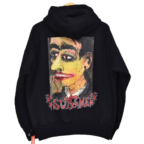 【中古】SUPREME Portrait Hooded Sweatshirt スウェット 2018AW ブラック サイズ:S 【送料無料】 【101118】(シュプリーム)