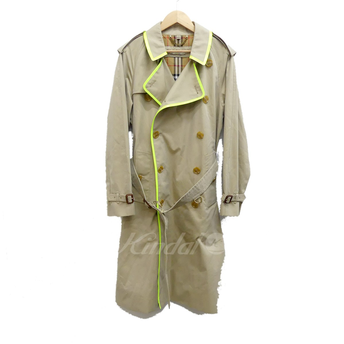 【中古】BURBERRY 2018SS tape detail gabardine トレンチコート 【送料無料】 【159477】 【KIND1550】