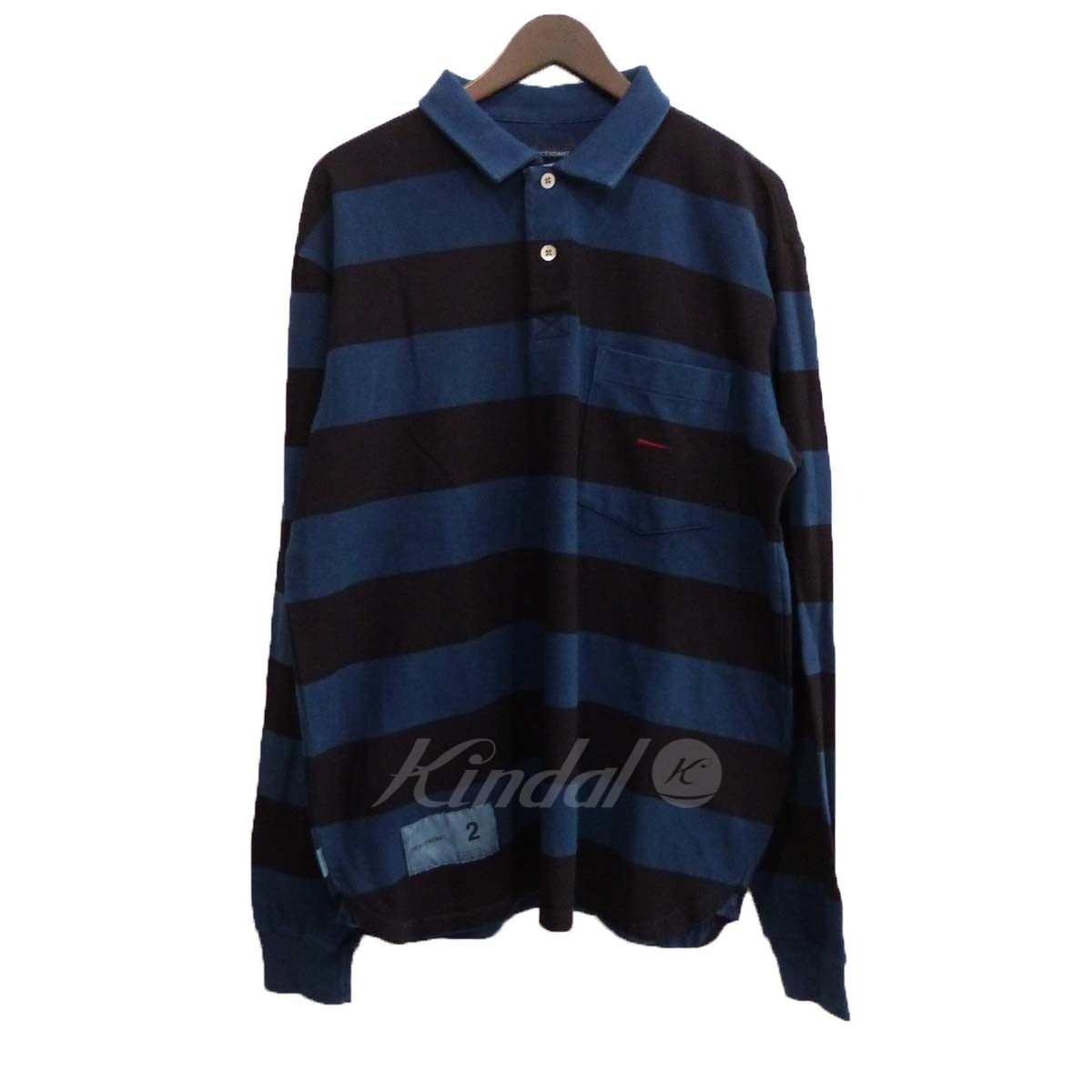 【中古】DESCENDANT×Ron Herman 18S/S 「PLO/POLO LS INDIGO 2」ボーダーポロシャツ 【送料無料】 【094108】 【KIND1550】