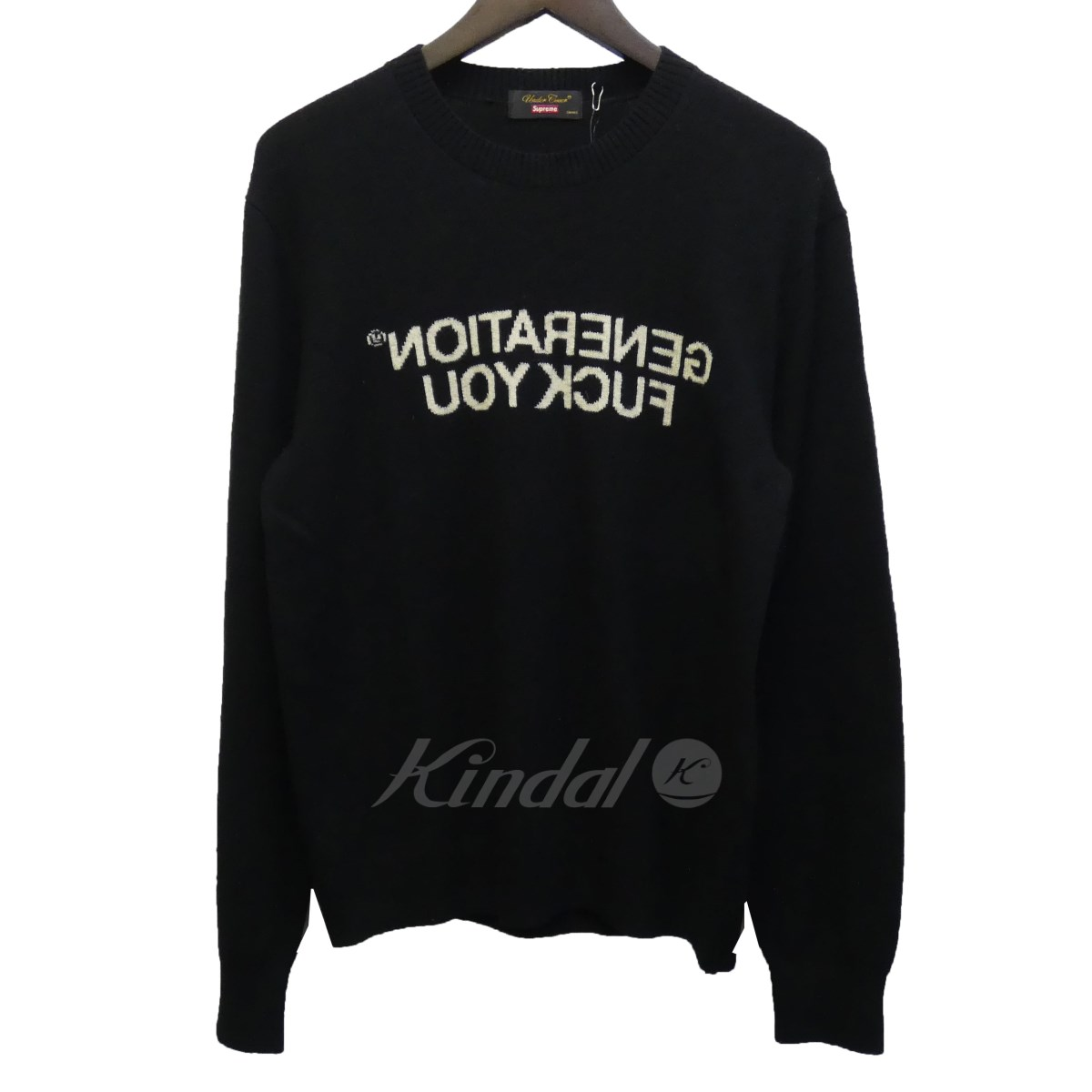 【中古】SUPREME × UNDERCOVER 16AW 「Generation Fuck You Sweater」カシミヤ混クルーネックニット 【送料無料】 【114571】 【KIND1550】
