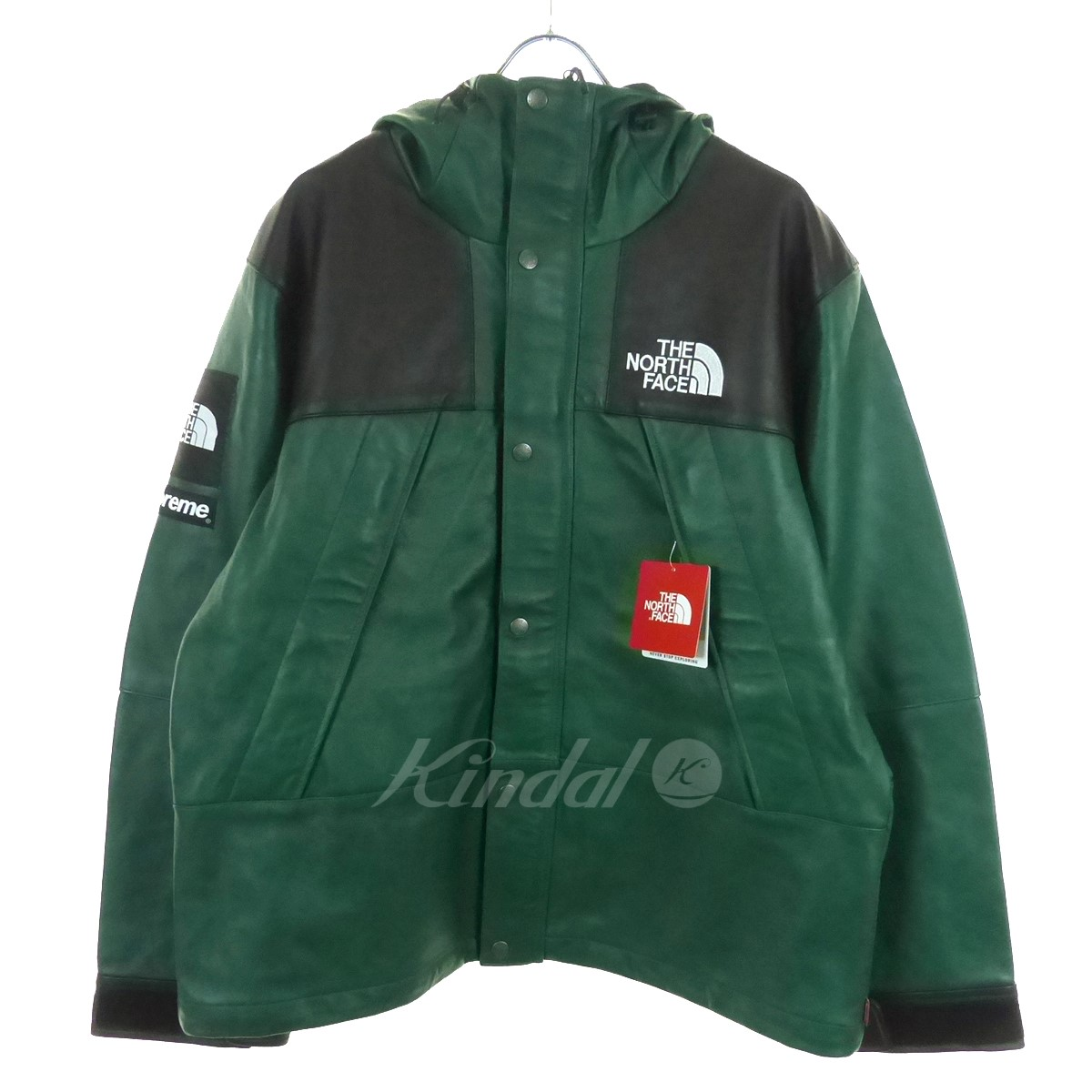 【中古】SUPREME×THE NORTH FACE Leather Mountain Parka レザーマウンテンパーカー 18AW 【送料無料】 【119884】 【KIND1550】