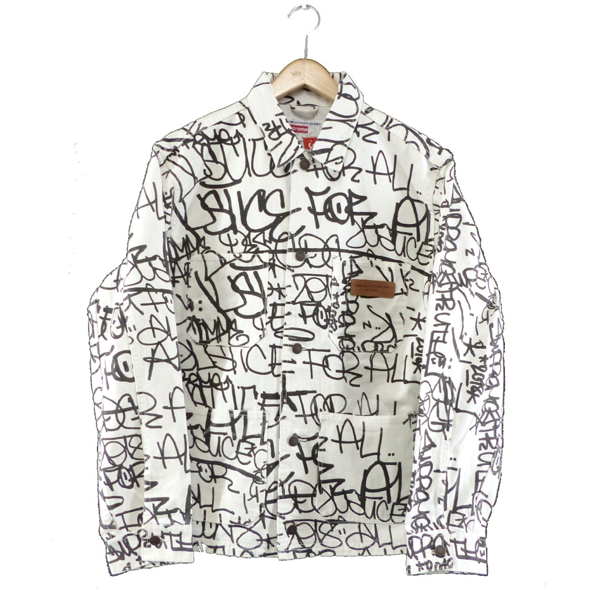 【中古】COMME des GARCONS SHIRT×SUPREME 2018AW Printed Canvas Chore Coat 【送料無料】 【268007】 【KIND1550】