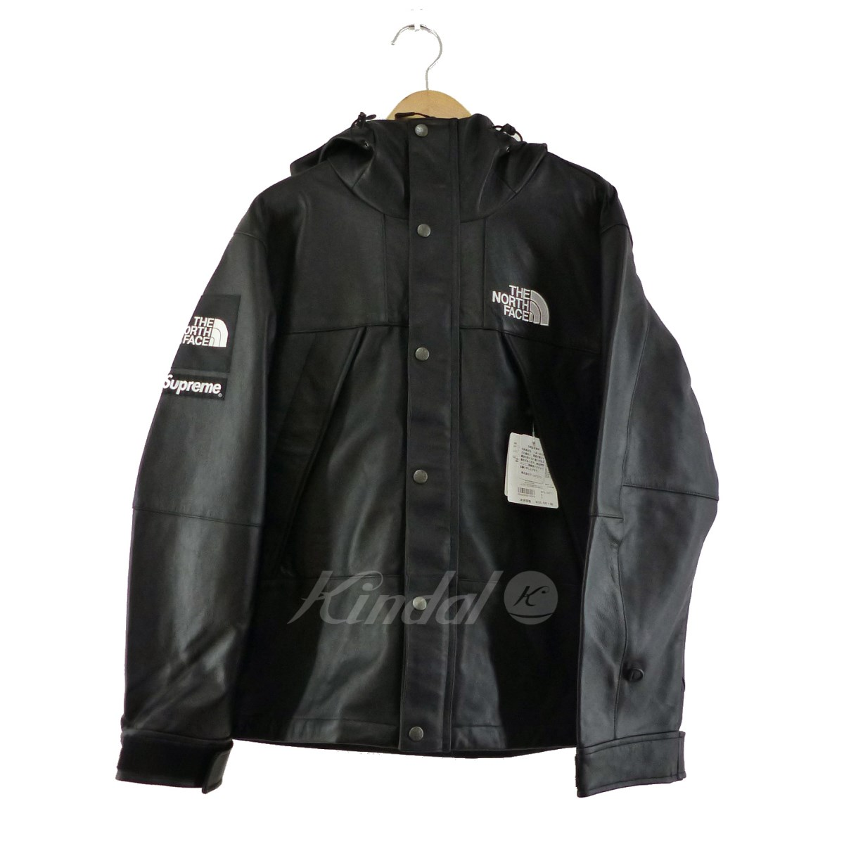 【中古】THE NORTH FACE×SUPREME 2018AW Leather Mountain parka 【送料無料】 【269899】 【KIND1550】