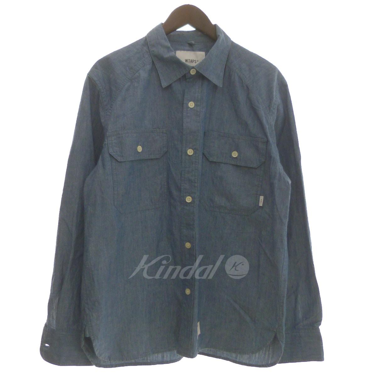 【中古】WTAPS 18SS「CELL LS」シャンブレーシャツ 【送料無料】 【148047】 【KIND1550】