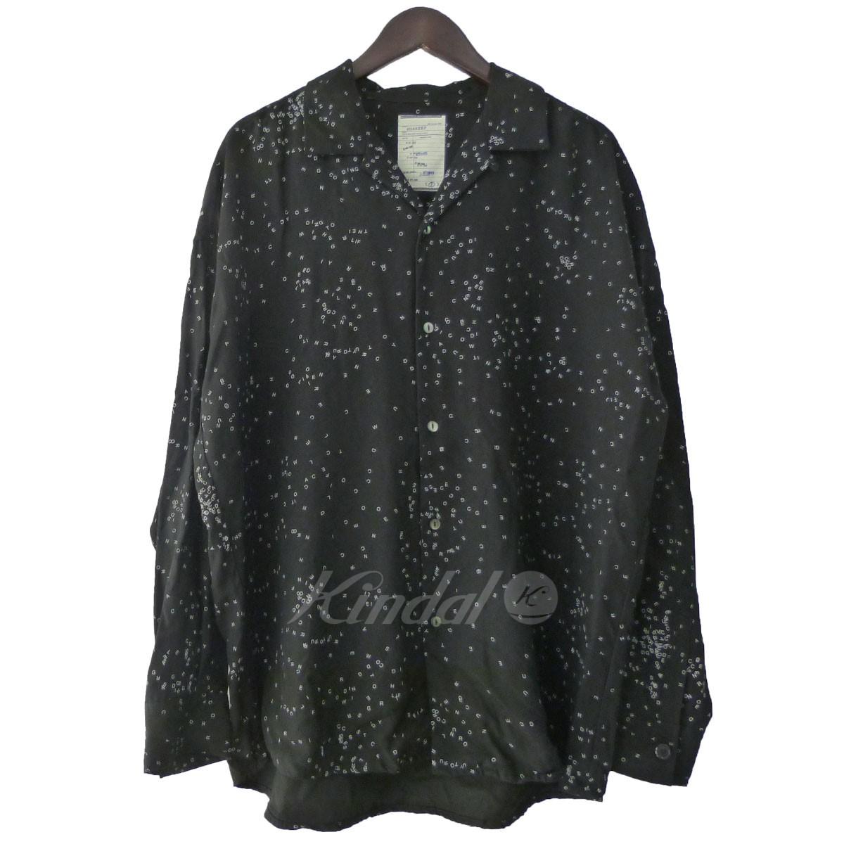 【中古】shareef オープンカラーシャツ ブラック サイズ:2 【送料無料】 【131118】(シャリーフ)