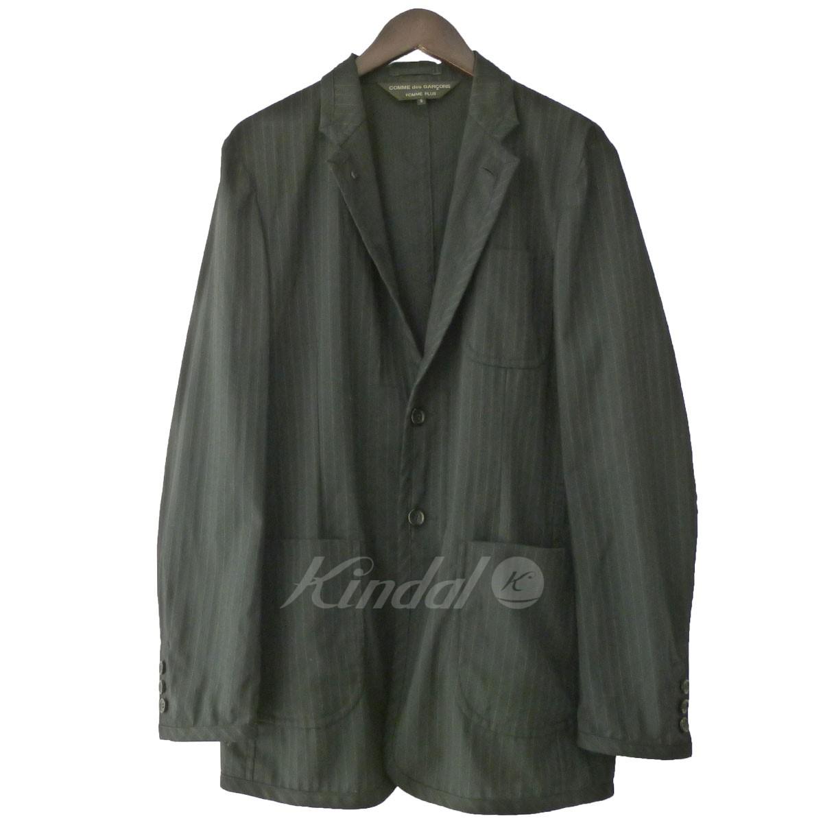 【中古】COMME des GARCONS 14SS ストライプノッチドラペル2Bジャケット 【送料無料】 【150026】 【KIND1550】