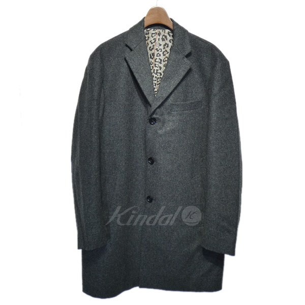 【中古】UNIFORM EXPERIMENT 2014AW「LIGHT WOOL FLANNEL LONG COAT」チェスターコート 【送料無料】 【088001】 【KIND1550】