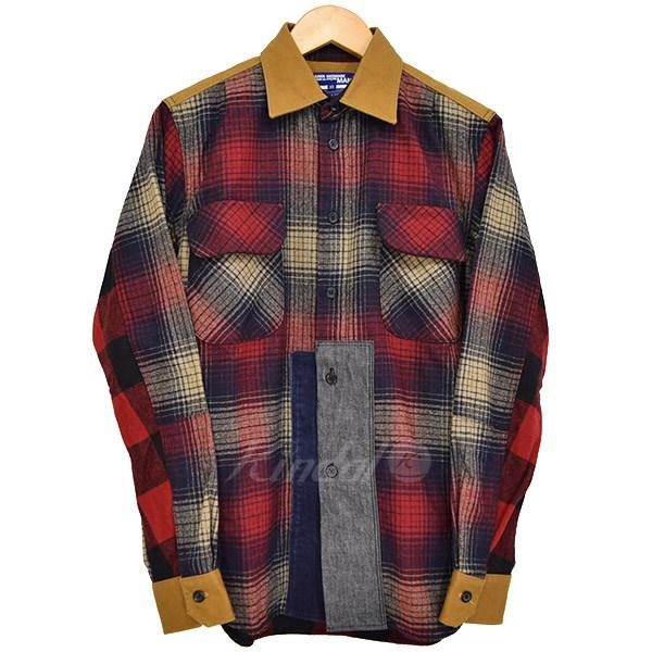 【中古】JUNYA WATANABE CdG MAN ×PENDLETON ペンドルトン 再構築ウールネルシャツ 2009AW 【送料無料】 【123915】 【KIND1550】