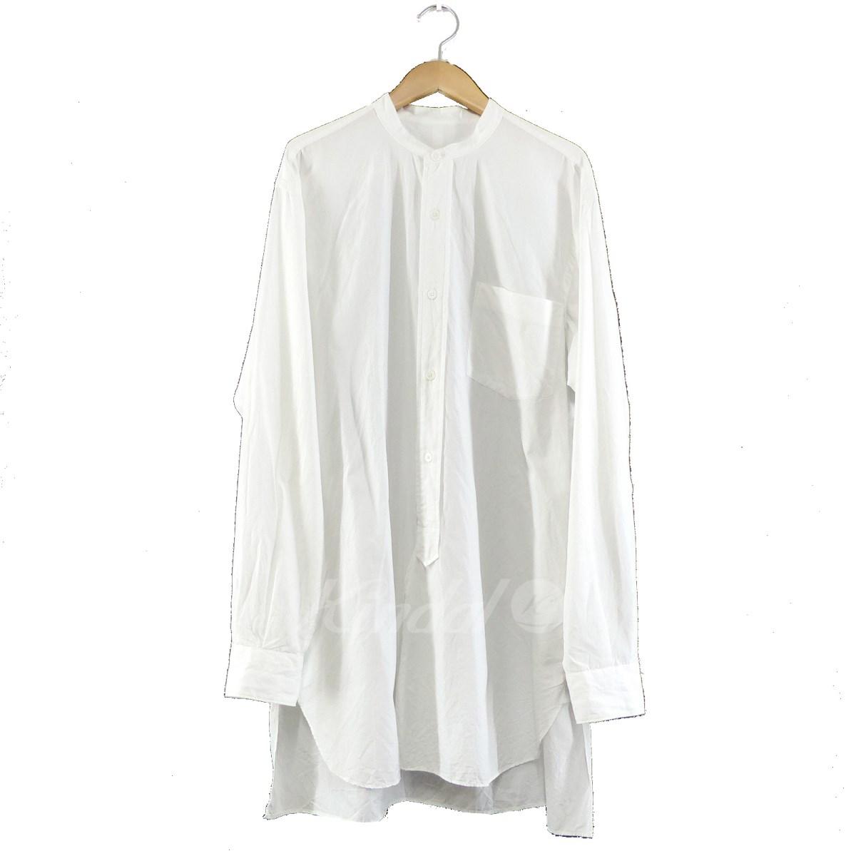 【中古】COMOLI 2018SS バンドカラーシャツ ホワイト サイズ:1 【送料無料】 【131118】(コモリ)