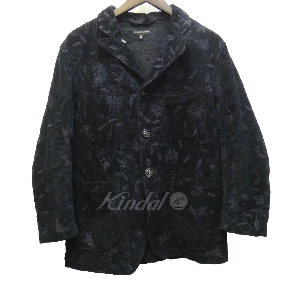 【中古】Engineered Garments 15AW Bedford Jacket-Floral Emb. Corduroy 花柄刺?ジャケット 【送料無料】 【115783】 【KIND1641】