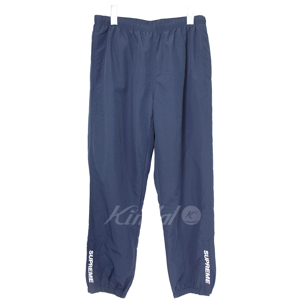 【中古】SUPREME 18AW Warm Up Pant ロゴナイロンイージーウォームアップパンツ ネイビー サイズ:S 【送料無料】 【151118】(シュプリーム)