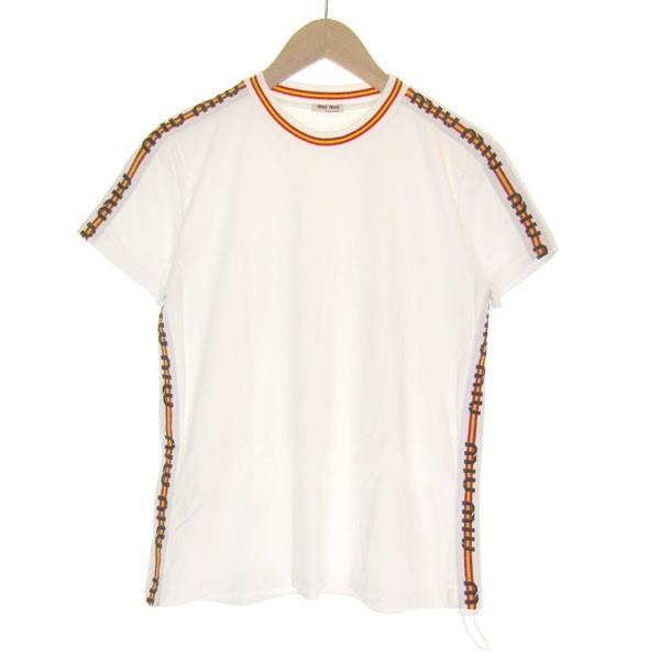 【中古】MIUMIU 2018A/W サイドライン Tシャツ 【送料無料】 【082114】 【KIND1641】