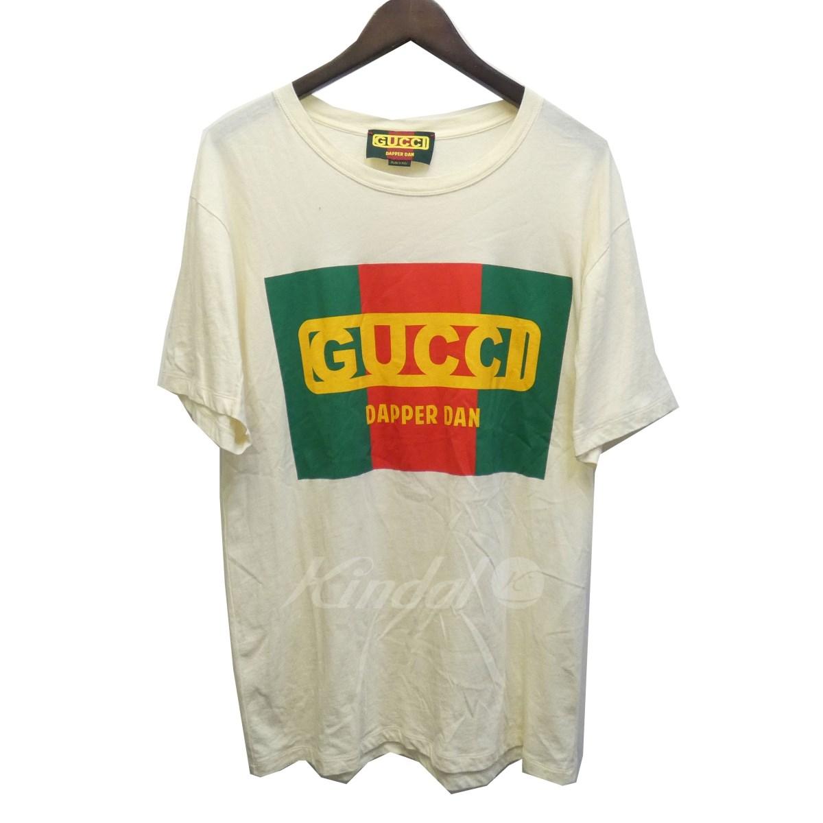 【3月14日 お値段見直しました】【中古】GUCCI18AW「Oversize Gucci-Dapper Dan T-shirt」オーバーサイズTシャツ アイボリー サイズ:1