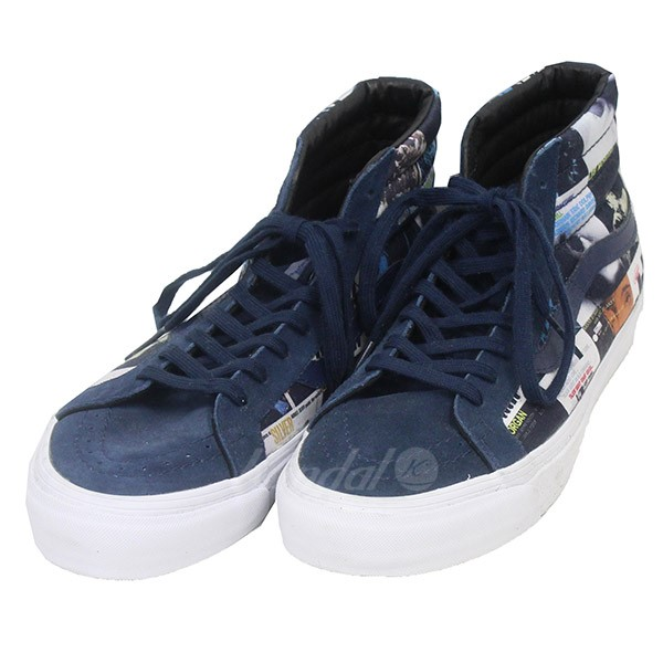 598ee9bbf1 VANS X DQM X BLUE NOTE RECORDS  vans D cue M blue note record. THE COLORS  SK8-HI LX skating high higher frequency elimination sneakers navy size  28.  5cm