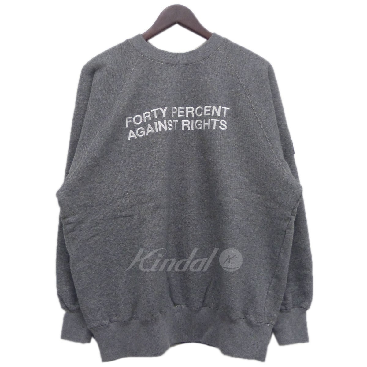 【中古】FORTY PERCENTS AGAINST RIGHTS (FPAR) 18AW 「SWEATSHIRT 03」 ロゴ刺繍スウェット 【送料無料】 【139364】 【KIND1550】
