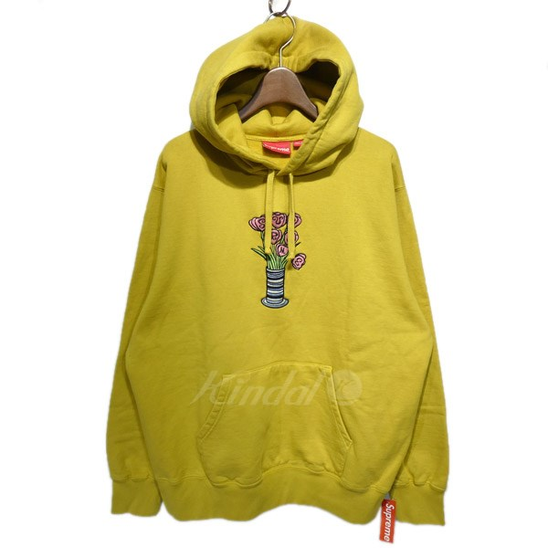 【中古】SUPREME 2018AW「Flowers Hooded Sweatshirt」刺繍プルオーバーパーカー 【送料無料】 【119149】 【KIND1550】