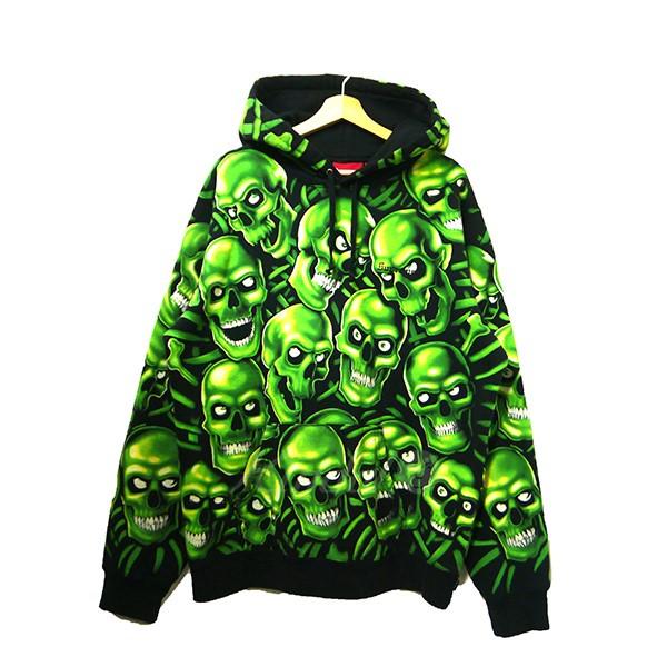 【中古】SUPREME 2018SS Skull Pile Hooded Sweatshirt スカル スウェットパーカー 【送料無料】 【002025】 【KIND1550】