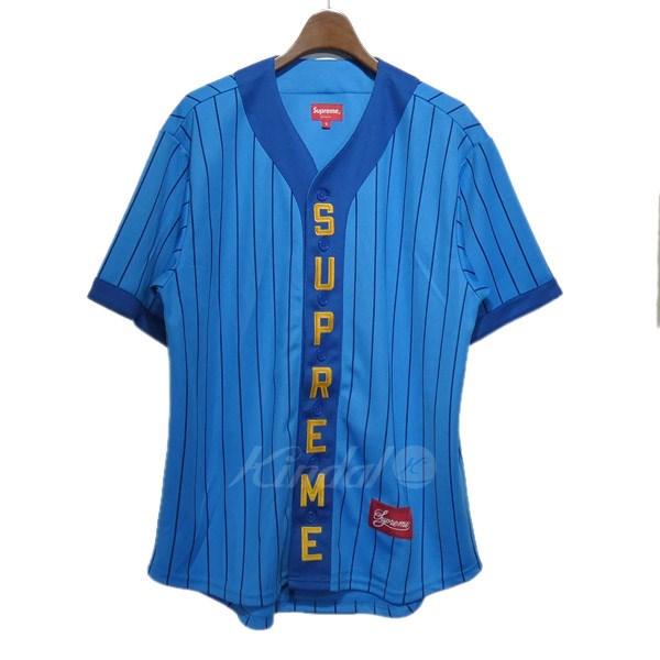【中古】SUPREME 2018AW「Vertical Logo Baseball Jersey」ベースボール半袖シャツ 【送料無料】 【113864】 【KIND1550】