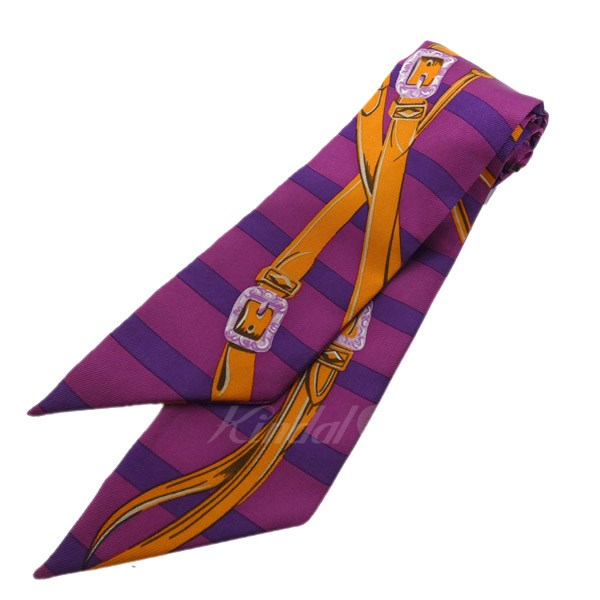 【中古】HERMES ツイリー 総柄スカーフ 【送料無料】 【118920】 【KIND1550】