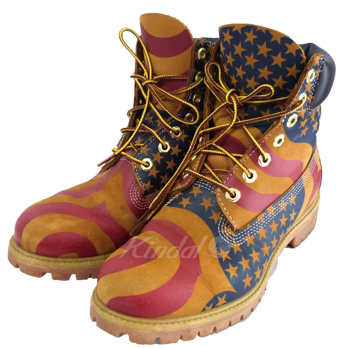 【中古】Supreme×Timberland 17AW「Stars And Stripe 6inch PremiumWaterproofBoot」 【送料無料】 【153218】 【KIND1641】