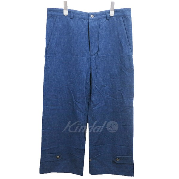 【中古】FRANK LEDER INDIGO DYED COTTON TROUSERS ワイドパンツ 【送料無料】 【002751】 【KIND1641】