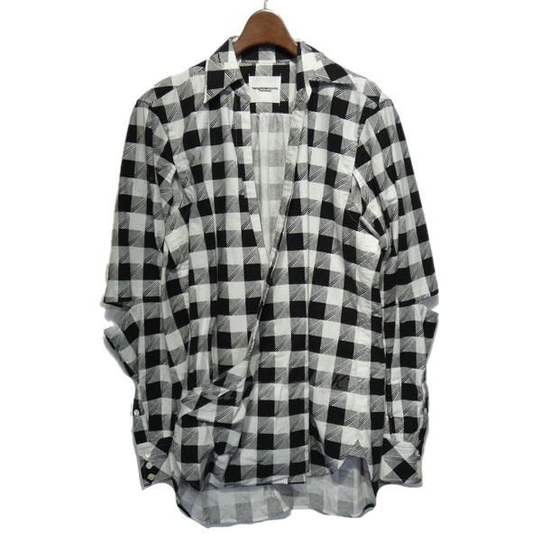 【中古】TAKAHIROMIYASHITA TheSoloIst. 2017SS 「crossover oriental shirt」チェックシャツ 【送料無料】 【120495】 【KIND1550】
