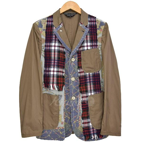【中古】COMME des GARCONS HOMME PLUS パッチワーク3Bジャケット 2010SS 【送料無料】 【129009】 【KIND1641】