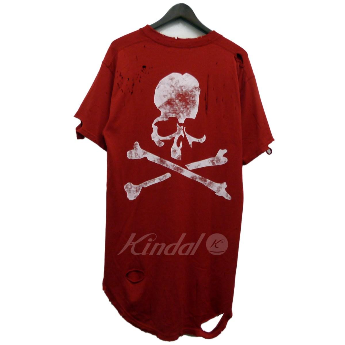 【中古】mastermind WORLD 18SSバックスカルデストロイ加工Tシャツ 【送料無料】 【140506】 【KIND1550】