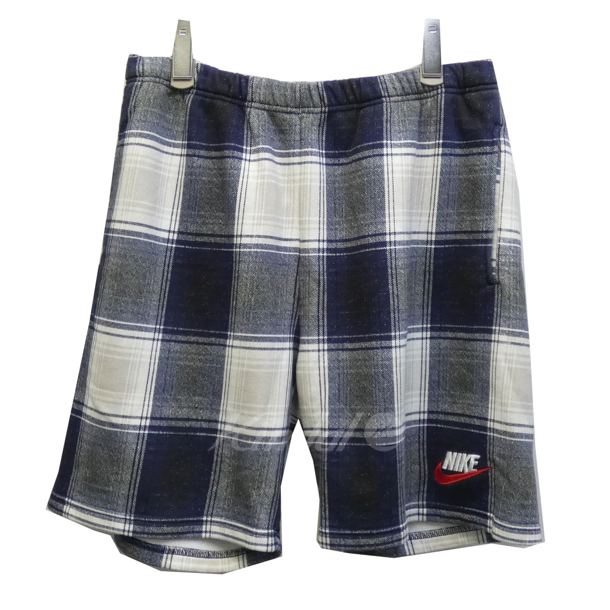 【中古】SUPREME×NIKE 18AW「Plaid Sweatshort」チェックショーツ 【送料無料】 【116537】 【KIND1641】
