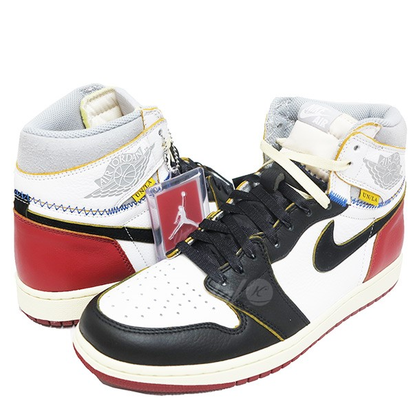 fe9ab24b3ea UNION X NIKE AIR JORDAN 1 Retro High OG NRG sneakers BV1300-106 black X red  size  28. 5cm (union Nike)