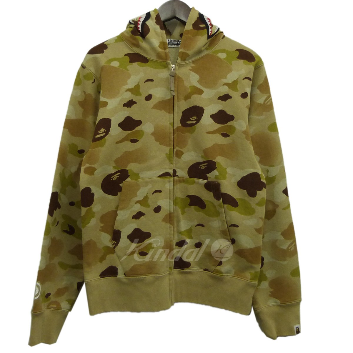 【中古】A BATHING APE 18SS「GRADATION CAMO SHARK FULL ZIP HOODIE」シャークパーカー 【送料無料】 【140629】 【KIND1550】