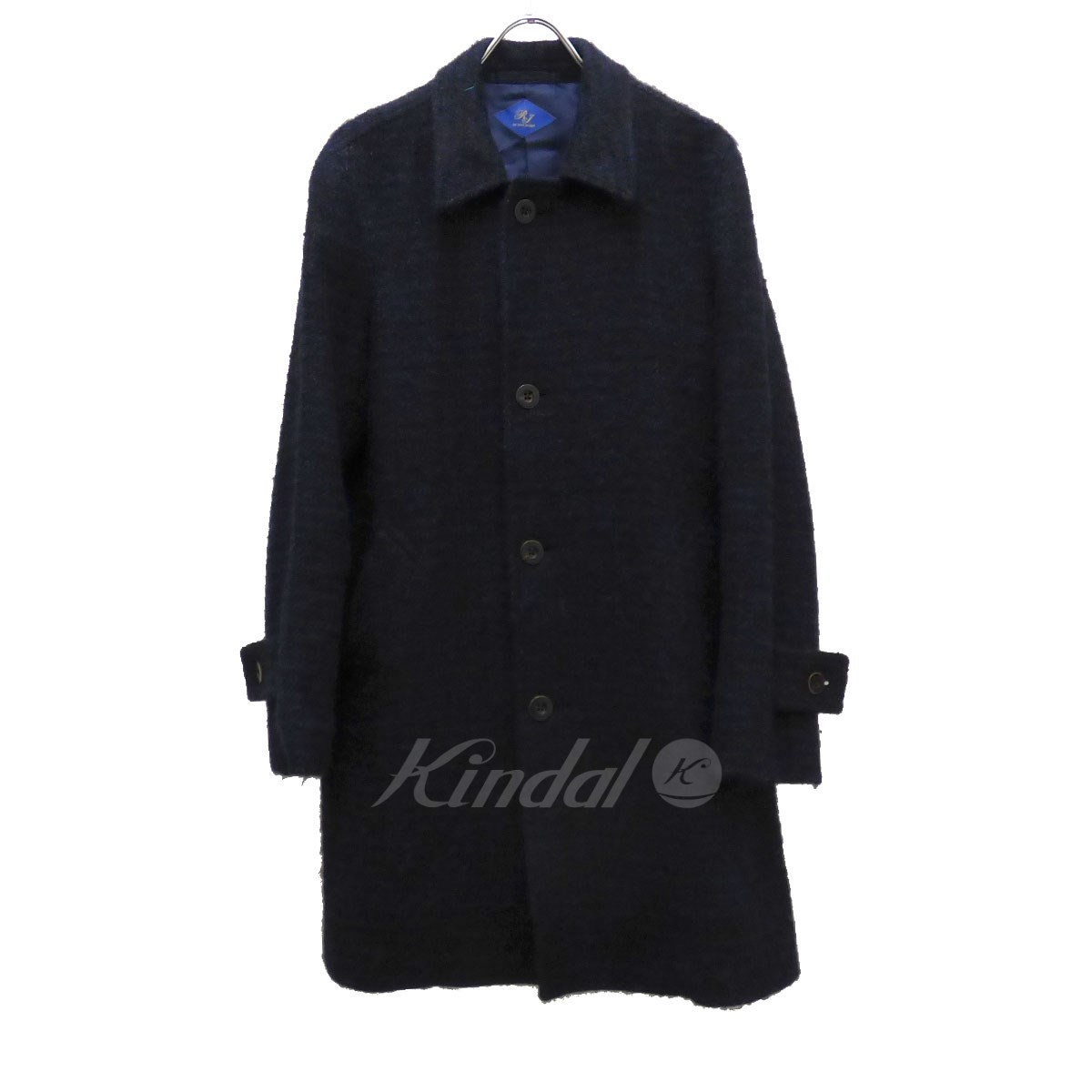【中古】Ring Jacket チェック柄 ウールステンカラーコート 【送料無料】 【008655】 【KT1544】 【返品不可】