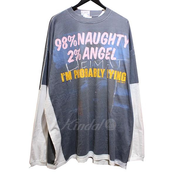 【中古】VETEMENTS 2018AW Demna's Favorite LS Naughty Angel ロンT 【送料無料】 【006558】 【KIND1550】