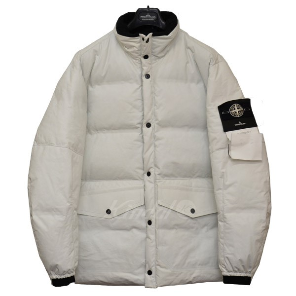 dbdea1d7c4f STONE ISLAND SHADOW PROJECT FEATHERWEIGHT LEATHER DOWN leather down jacket  blouson white size: XL ...