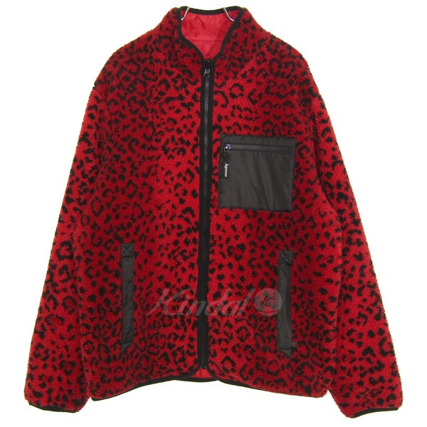 【中古】SUPREME 2017A/W Leopard Fleece Reversible Jacket 【送料無料】 【015026】 【KIND1550】