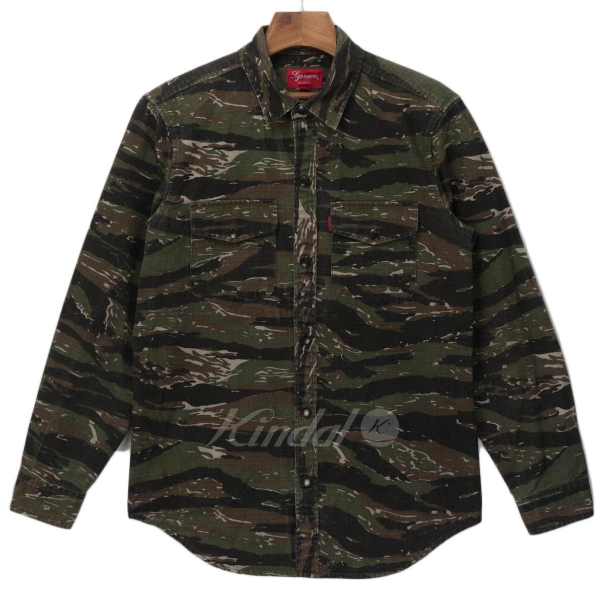 【中古】SUPREME カモフラージュ シャツジャケット 【送料無料】 【013468】 【KIND1550】