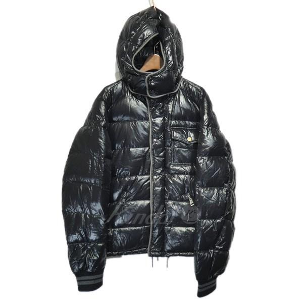 【中古】MONCLER 「BORROME」フーデッドダウンジャケット ブラック サイズ:3 【送料無料】 【291118】(モンクレール)