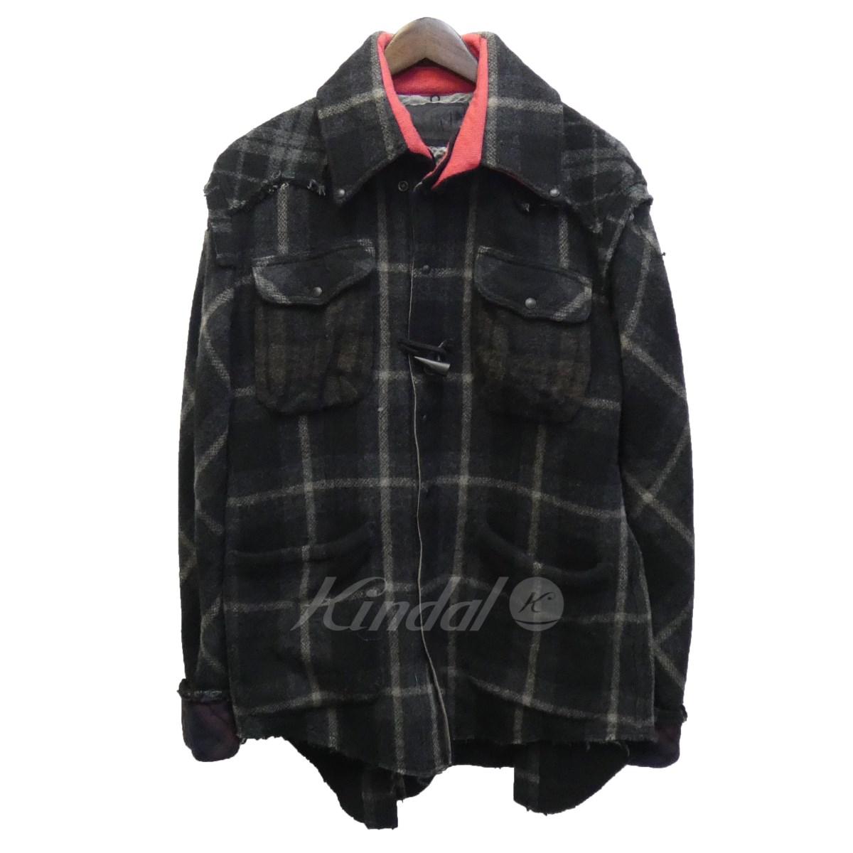 【中古】L.G.B. 「CPO-SHIRT/M」裾カットオフCPOチェックウールシャツジャケット 【送料無料】 【117992】 【KIND1550】